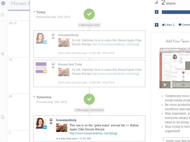 Determine the time and message of your promotion with CoSchedule