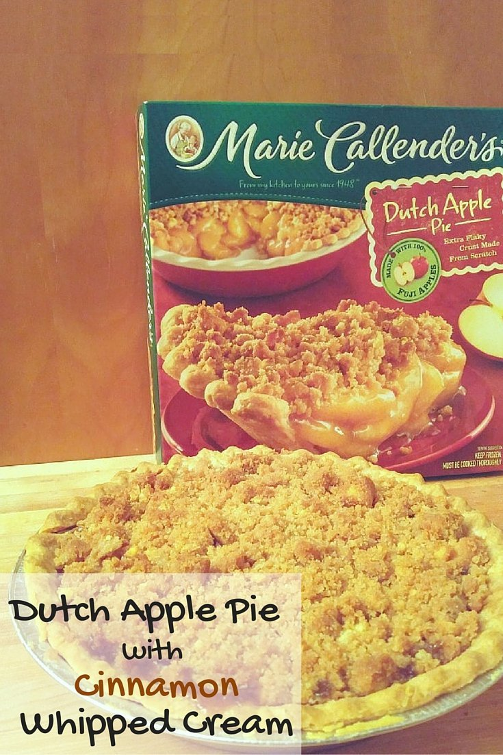 Dutch apple Pie with homemade cinnamon whipped cream