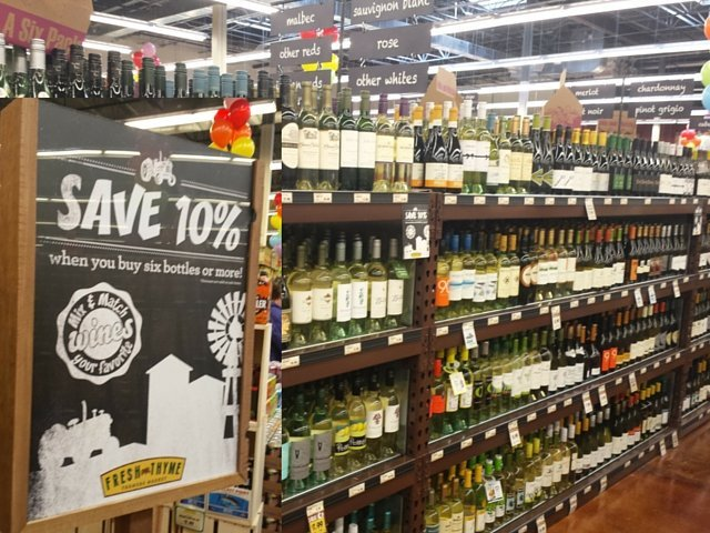 Wine options at Fresh Thyme Market