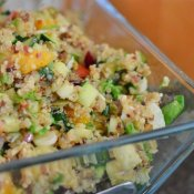 Delicious harvest quinoa salad