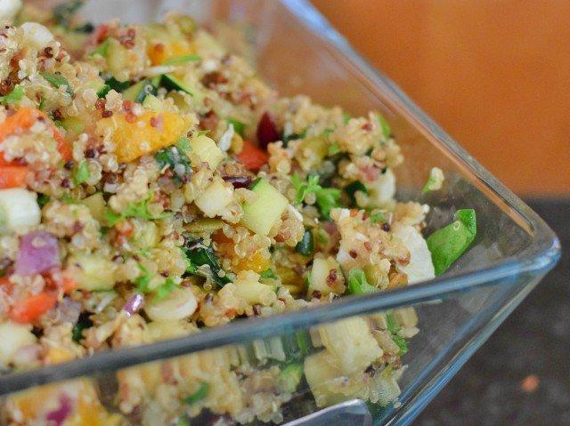 Delicious harvest quinoa salad
