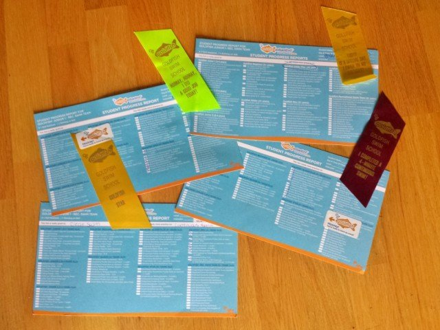 Goldfish swim school report cards