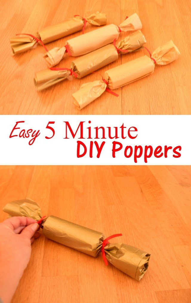 Easy 5 minute DIY New Years poppers
