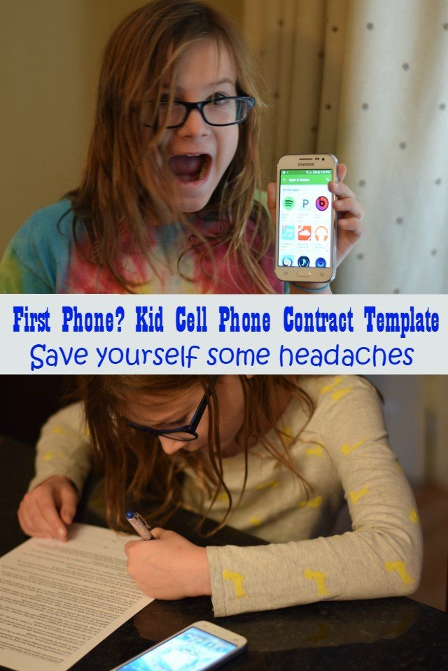 First Cell phone needs a kid cell phone contract