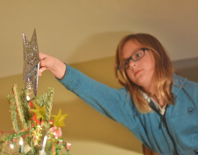 Putting the star on the tree 2015