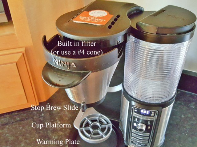 More features of the Ninja Coffee Bar