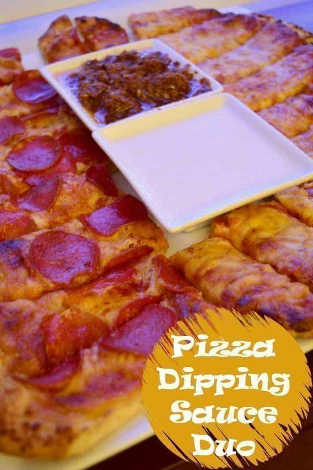 Pizza Dipping Sauces creamy garlic and sundried tomato