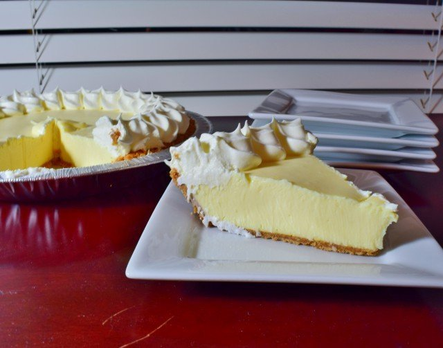 Slice of Edwards key lime pie