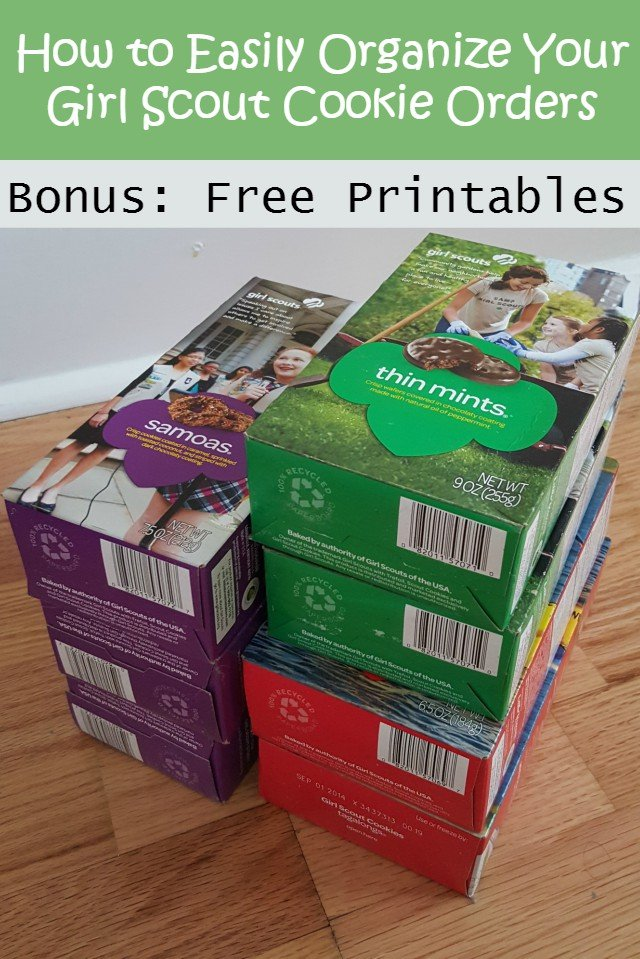 how to organize girl scout cookies updated for 2018