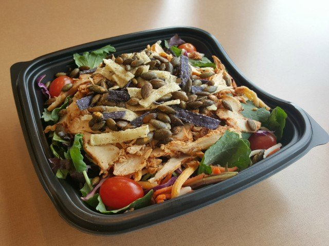 Chick-fil-A southwest salad ready to eat without dressing