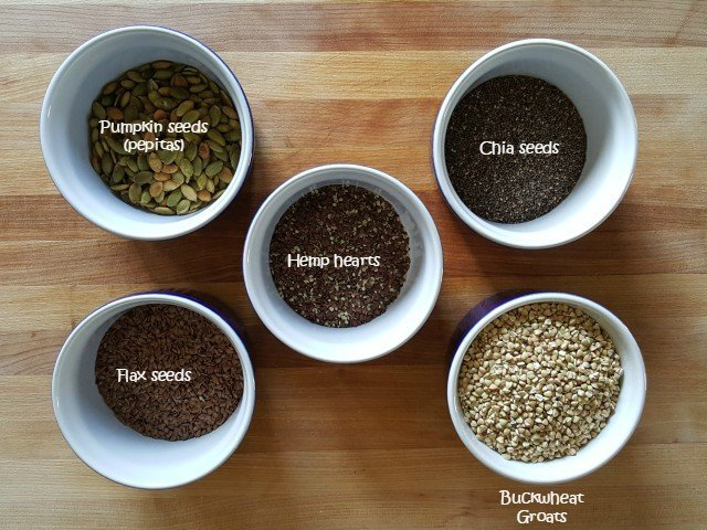 Ingredients for homemade gluten free cereal