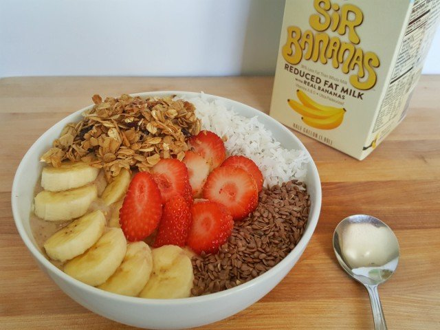 Delicious protein power smoothie bowl for breakfast
