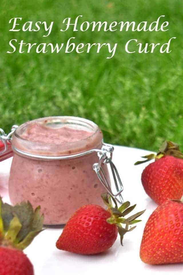 Easy Homemade Strawberry Curd - this recipe is great as a cake filling, pancake or crepe topping, or just as a fruit dip. You can even use it over ice cream. Ready in just over 30 minutes, this is a great treat to bring to a party or serve as an appetizer with fruit.