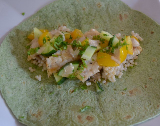 Add veggies to your Mediterranean wraps