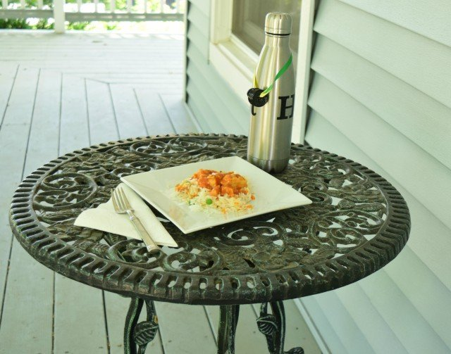 Enjoy your meal outside with no distractions