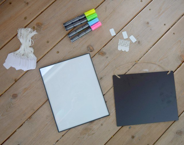Materials to create your own DIY visual to do list