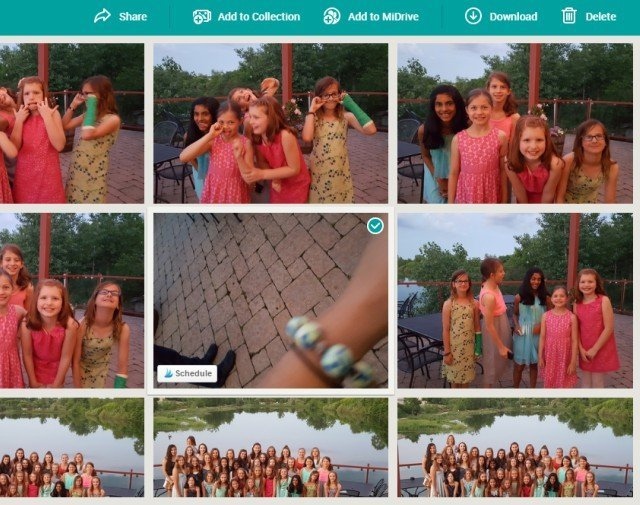 Sharing and deleting photos is easy with MiMedia photo storage