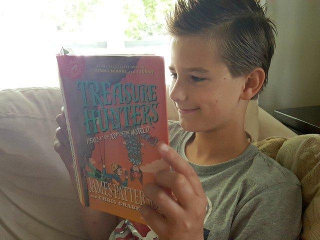 Enjoying the new James Patterson Treasure Hunters novel