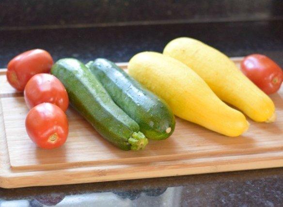 Fresh vegetables for Italian roasted veggies