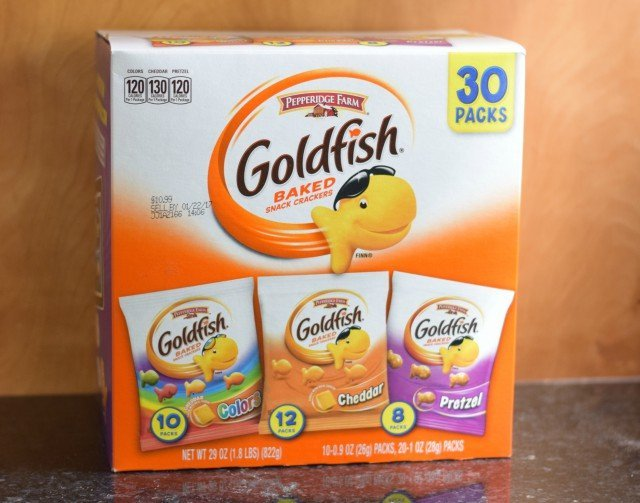 Goldfish cracker variety box