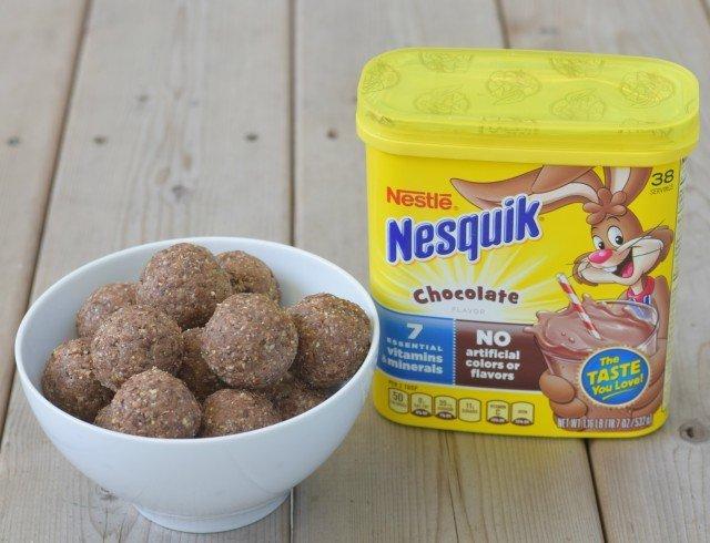 Yummy protein energy bites with Nesquik