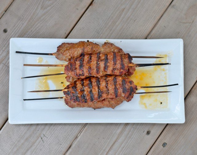 Enjoy gluten free kefta kebabs for dinner on the grill