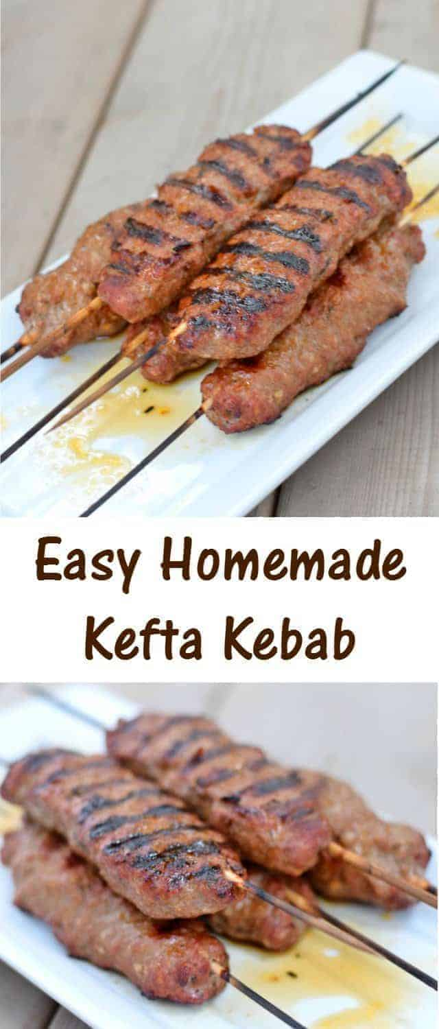 Easy to make kefta kebabs recipe for great kid friendly Middle Eastern alternative to a traditional hamburger or meatloaf. Ready in 30 minutes and gluten free and allergy friendly