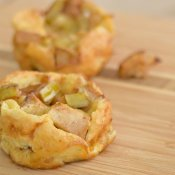 Twist on breakfast with these mini apple pancakes