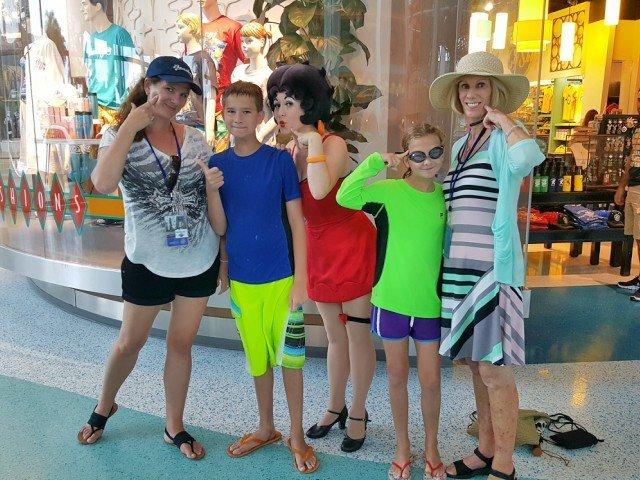 Character visits at Universal Studios hotels