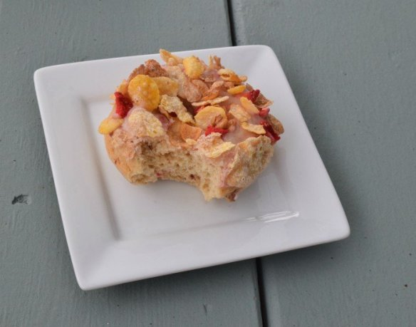 Enjoy homemade cereal topped baked donuts