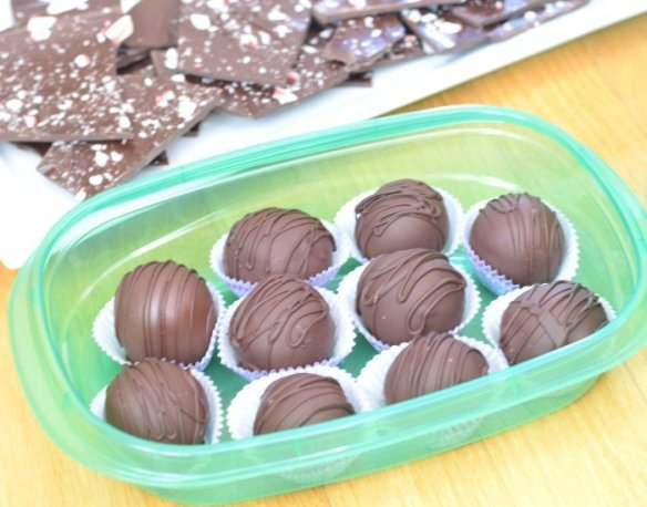 Perfect storage for brown sugar cookie dough truffles