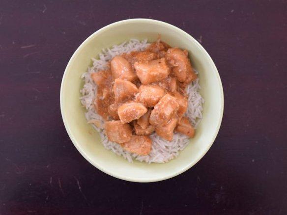 Bowl of Instant Pot Honey Bourbon Chicken new recipe