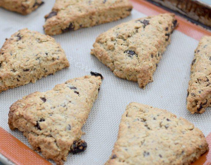 Fresh baked cherry chip scones recipe