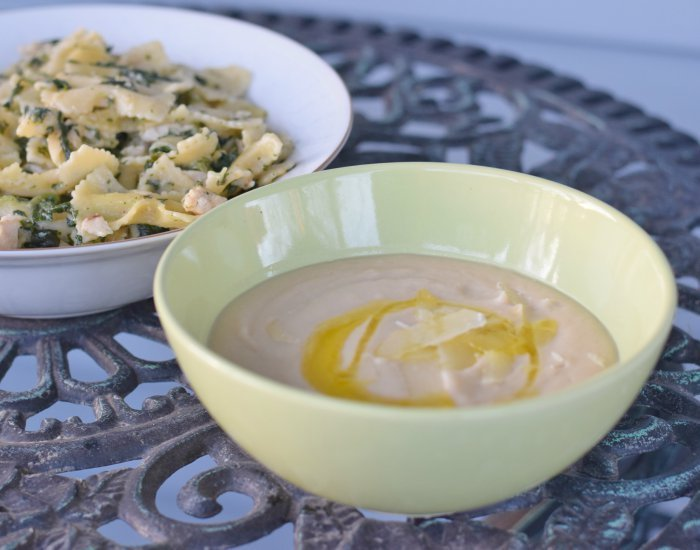 Delicious dairy free gluten free Tuscan bean soup recipe