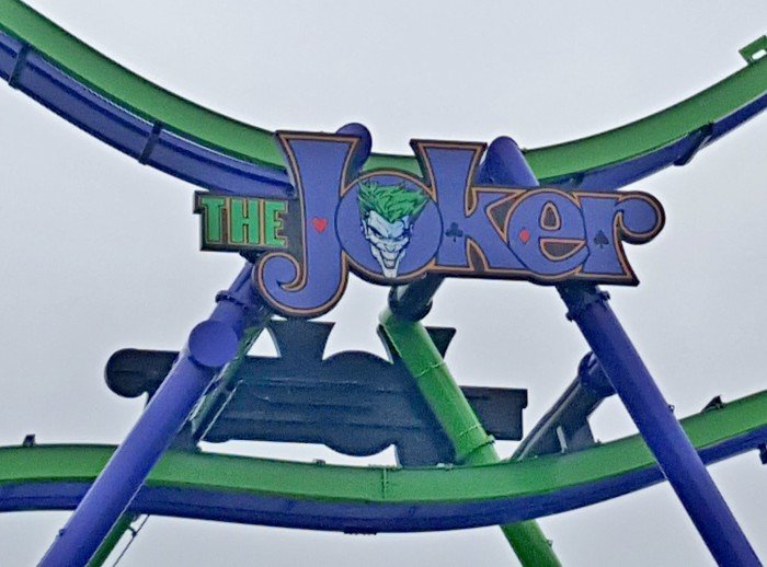 THE JOKER coaster at Six Flags Great America