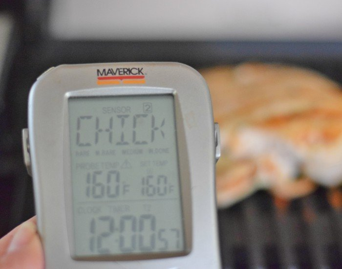 Cook chicken to 160 degrees then let rest
