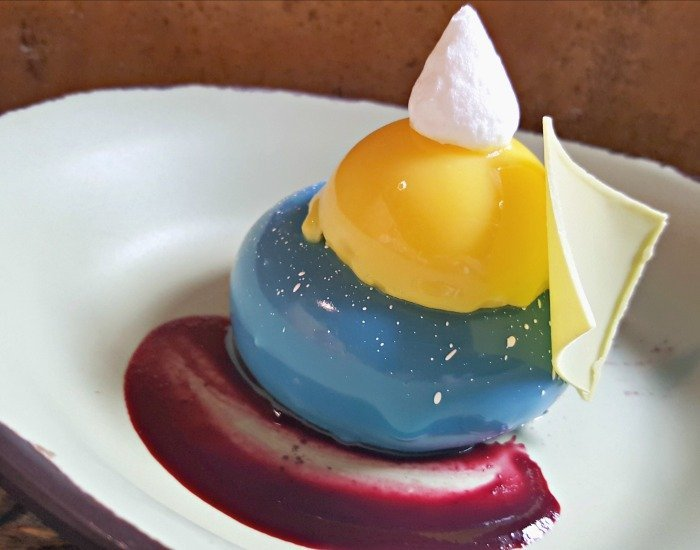 Blueberry cream cheese mousse at Disney Animal Kingdom Sutuli Canteen