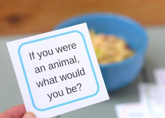 Enjoy simple dinner conversation starters for kids printable