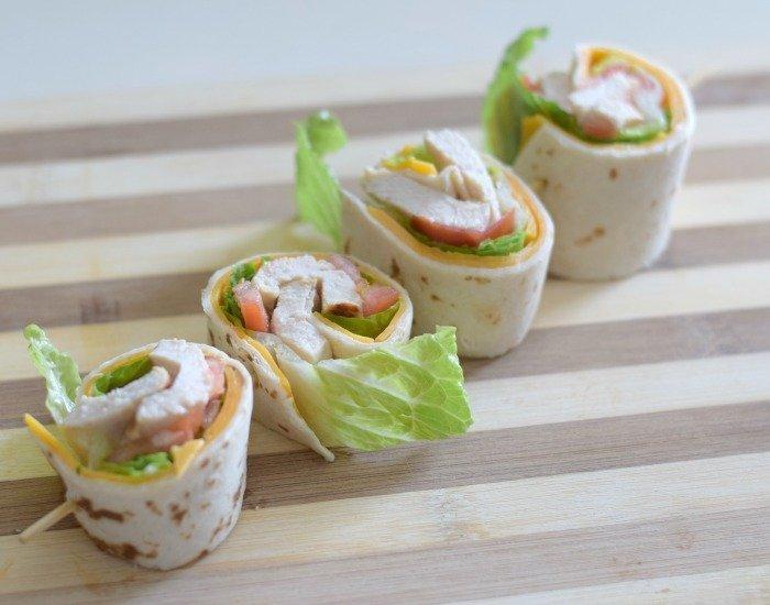 Perfect picnic food pinwheel taco chicken wraps