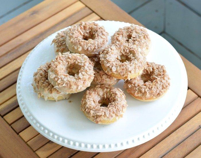 Plate of easy homemade doughnuts