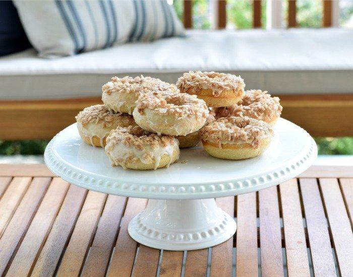 Platter of amazing homemade doughnuts