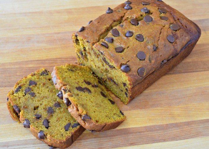 Chocolate Chip Pumpkin Bread deliciousness