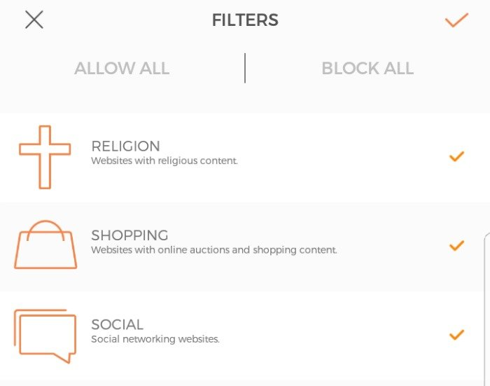 How to set up filters with CUJO