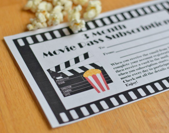 Gifting Movie Pass This Year Free Gift Certificate Printable