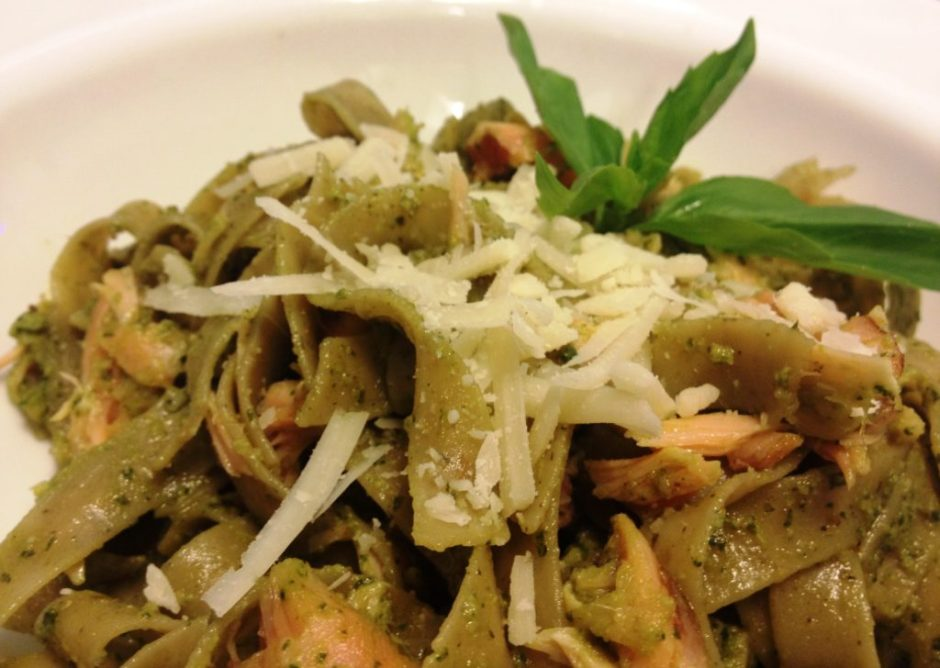 Bisogno Pasta: Gluten-Free & Vegan with pesto
