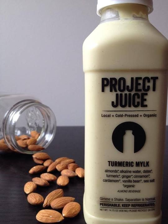 delicious turmeric mylk juice from Project Juice in San Francisco