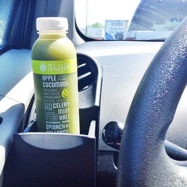 green juice from suja juice is a great travel snack