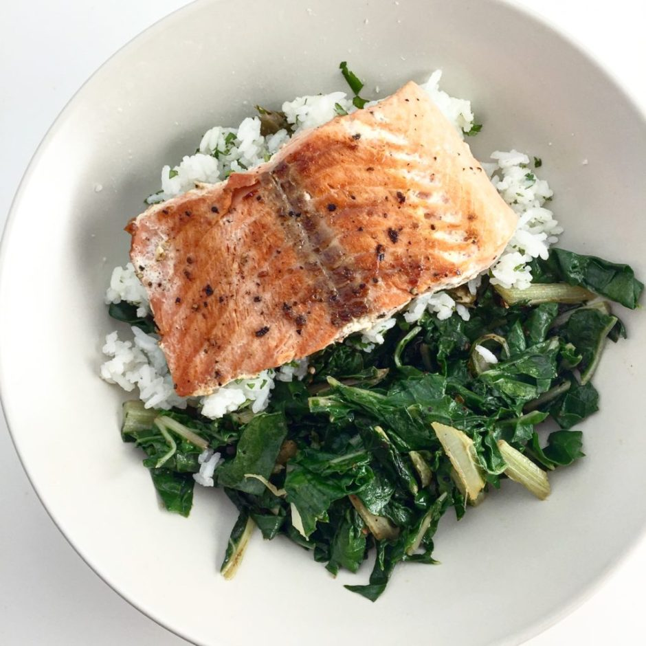 salmon and chard healthy dinners