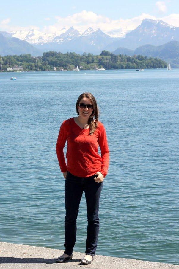 FashionablyEmployed.com | Enjoying gelato in Lucerne, Switzerland before heading up to the top of Mount Pilatus