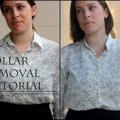 Update A Thrifted Collared Shirt ~ Tutorial